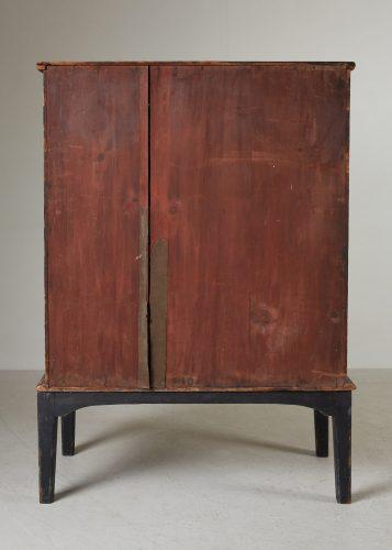 HL4780 – Small Georgian Black Painted Cupboard-0020