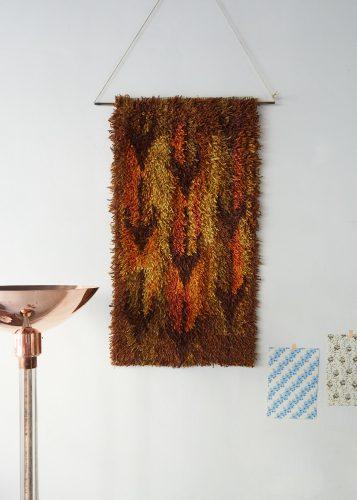 HL4952- Swedish Wool Rya Weaving Rug-0002