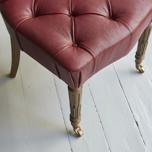 Red Leather Salon Chair-0015