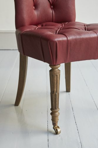 Red Leather Salon Chair-0017
