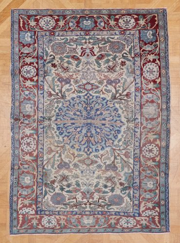 25 Small Rug Red Blue Beige-0001