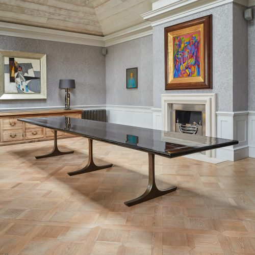 Long Black Lacquered Dining Table-0006