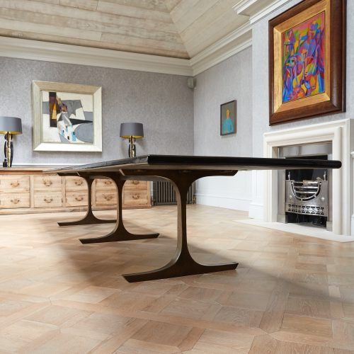 Long Black Lacquered Dining Table-0012