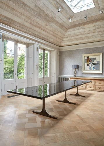Long Black Lacquered Dining Table-0018