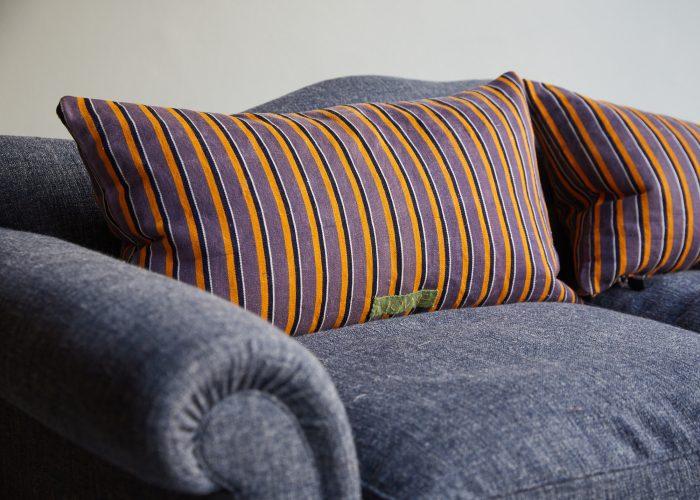 HB900400 – Purple Stripe Ticking Cushion-0002