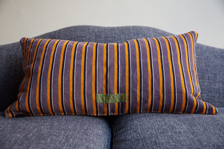 HB900400 – Purple Stripe Ticking Cushion-0010