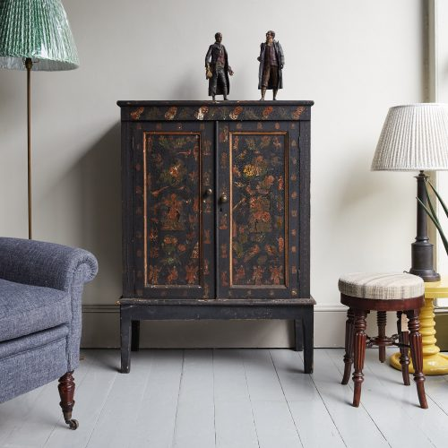 HL4780 – Victorian Decoupage Cabinet-0005