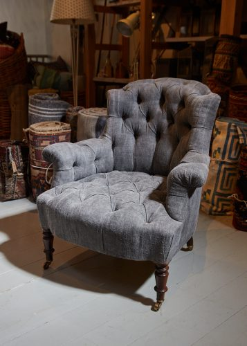 Hl4998 – Rose Wood Leg Armchair-0002