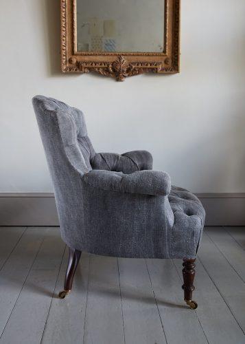 Hl4998 – Rose Wood Leg Armchair-0012