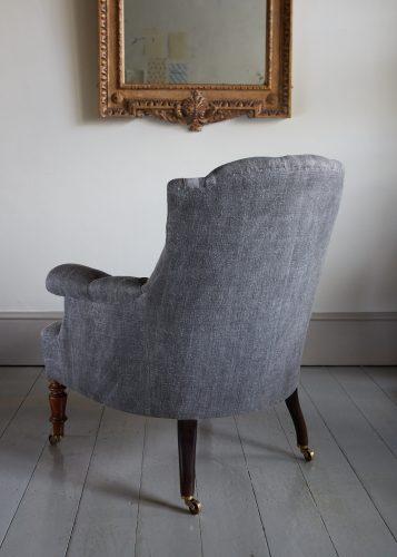 Hl4998 – Rose Wood Leg Armchair-0013