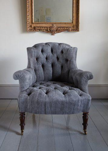 Hl4998 – Rose Wood Leg Armchair-0014