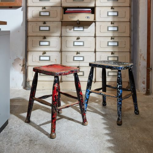 HL5389 – Pair of Painted Stools-0001