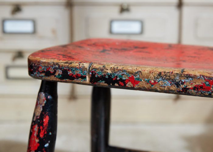 HL5389 – Pair of Painted Stools-0009